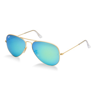 Ray-Ban Men's Large Aviator Blue Mirror Sunglasses   Overstock.com Shopping - The Best Deals on Fashion Sunglasses
