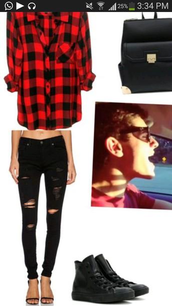 jeans blouse shoes jacket