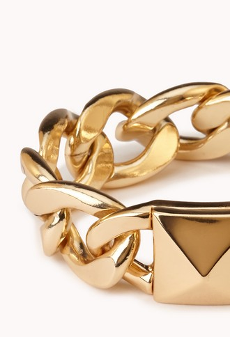 Total Stud Curb Chain Bracelet   FOREVER 21 - 1000092119
