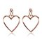 Heartbreaker hoop set- rose gold | luv aj