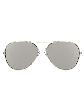 ASOS | ASOS Silver Aviator Sunglasses with Mirrored Lens at ASOS