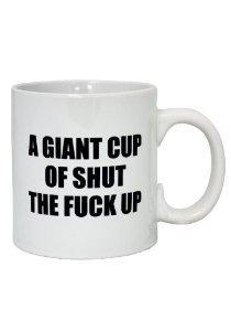Large Rude Mug - Shut Up: Amazon.co.uk: Health & Personal Care