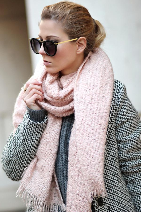 sirma markova coat sweater jeans scarf shoes sunglasses jewels bag