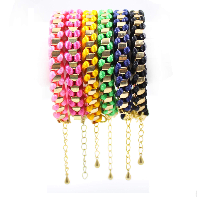 Sweety Handmade Brcelet Trendy Gold Tone Chain Twine Rope Womens Girls Bangle | eBay