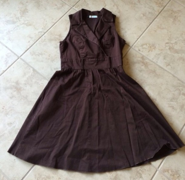 dress speechless sleeveless chocolate brown
