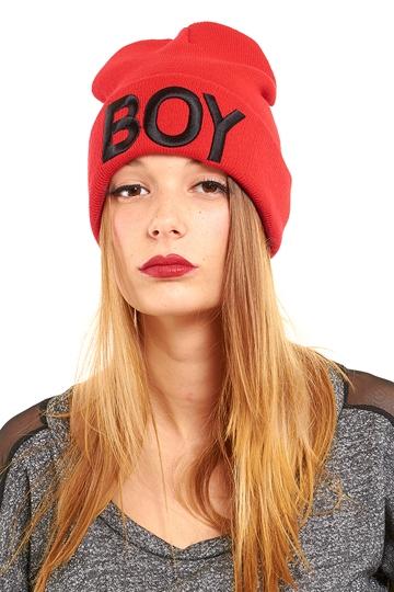 Boy Oh Boy Beanie - Red from ROXX at ShopRoxx.com