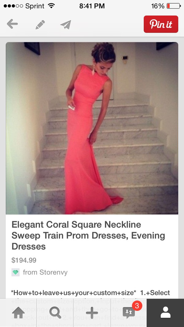 dress coral dress square neckline high neck