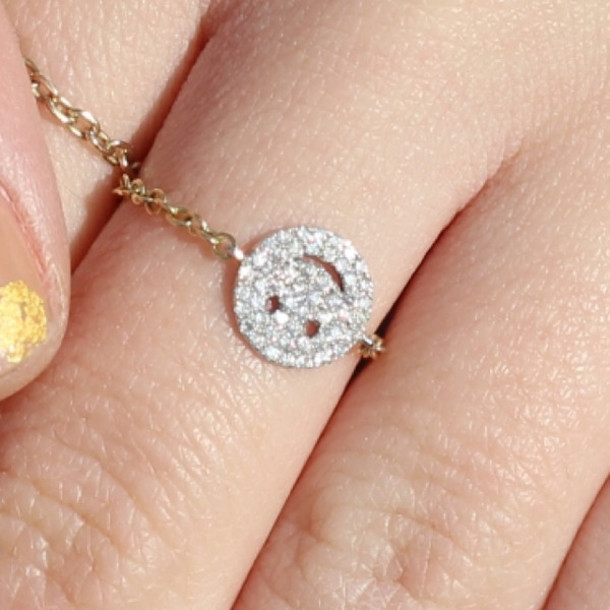 jewels ring dainty sparkle chain
