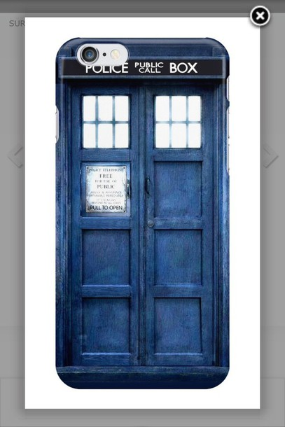phone cover tardis blue doctor who iphone case