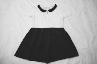 peter pan collar white dress black dress dress