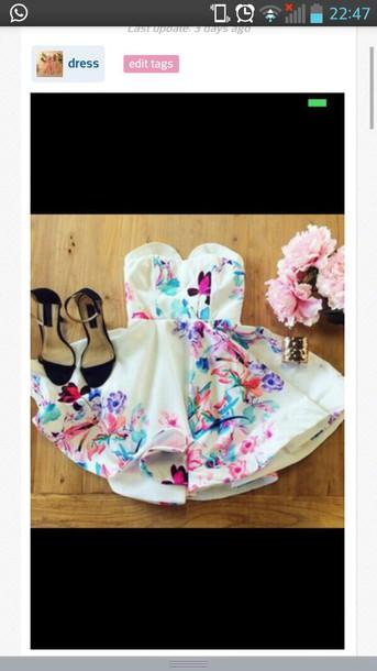dress spring dress girly dress girly white dress floral dress shoes www.ebonylace.net ebonylacefashion
