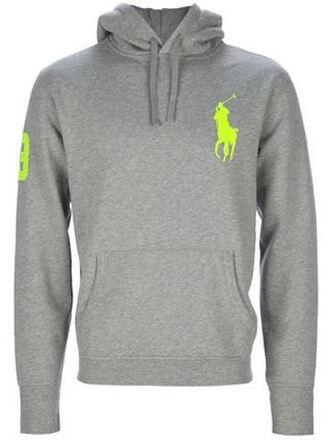 sweater ralph lauren polo ralph laurent fluo grey sweater