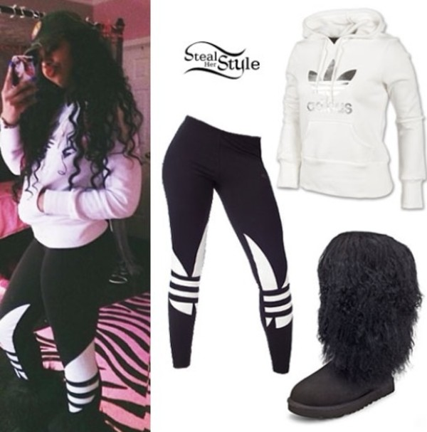 pants bahja rodriguez adidas gotta have it omg girlz sweater shoes omg on errthang adida tights adida pullover ugg boots jeans