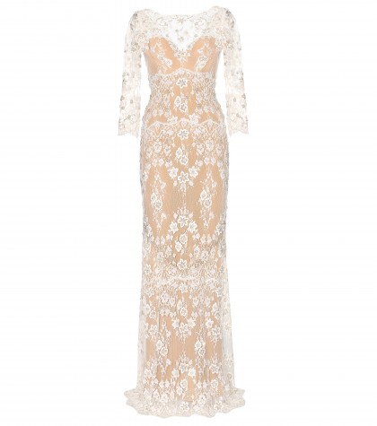 mytheresa.com -  Silk-blend lace gown - Gowns - Dresses - Clothing - Luxury Fashion for Women / Designer clothing, shoes, bags