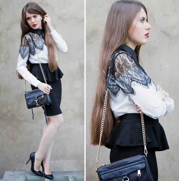 frau eismann blouse skirt shoes bag