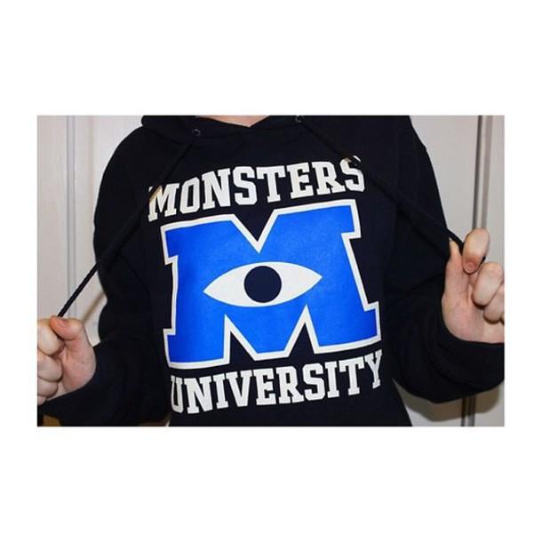 sweater mike wazouski disney sweater disney sweatshirt monster inc monsters university
