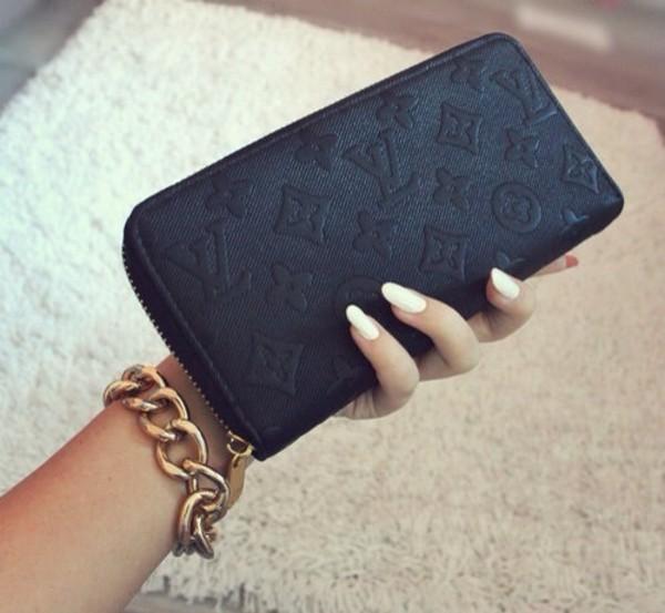 bag wallet louis vuitton all black everything purse wallet cute black