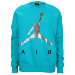 Jordan Jumpman Air Fleece Crew - Men's - Basketball - Clothing - Gamma Blue/Silver/Black