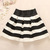 A 091205 Black And White Striped Waist Tutu Skirt on Luulla