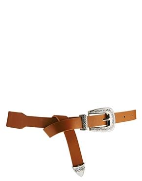 ASOS | ASOS Western Tip Waist Belt With Boyfriend Loop at ASOS
