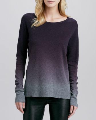Majestic Paris for Neiman Marcus Dip-Dye Knit Sweater - Neiman Marcus