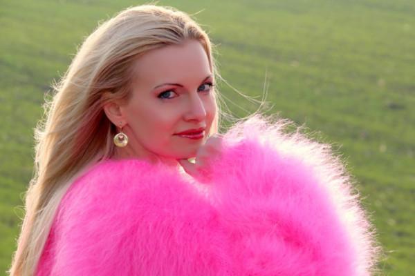 sweater hand knit made mohair pink dress supertanya fluffy fluffy soft