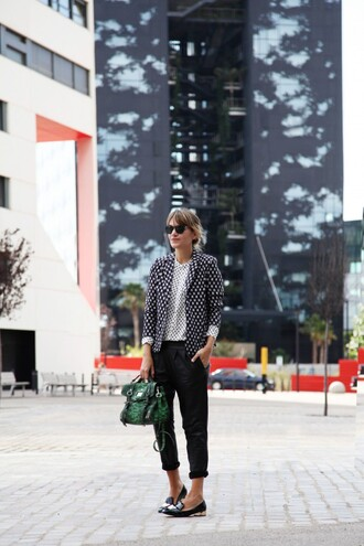 my daily style blouse pants jacket bag shoes sunglasses