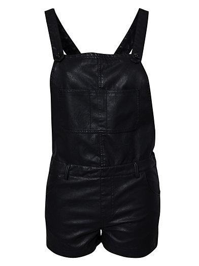 Pu Dungaree - Estradeur - Noir - Combinaisons - Vêtements - Femme - Nelly.com La Mode En Ligne Sur Internet