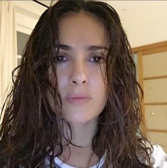 make-up no make-up look salma hayek actress celebrity beautiful