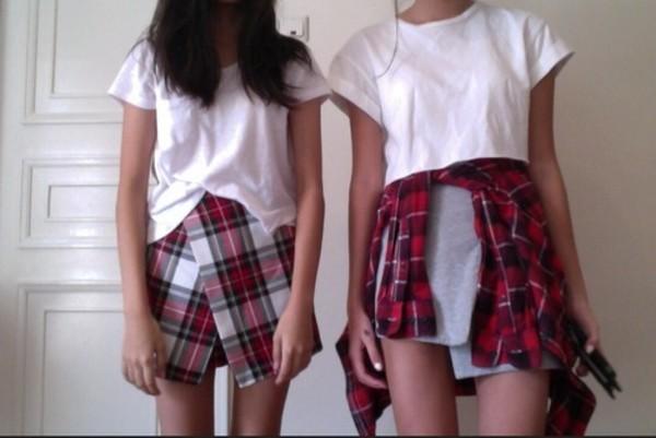 shorts plaid skorts