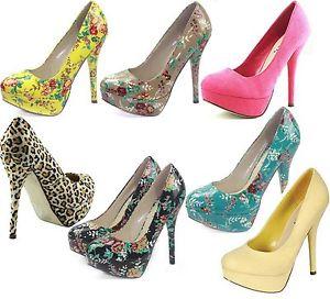 Hot Sale Fashion Round Toe Mary Janes Stilettos High Heel Pump Platform Shoes | eBay