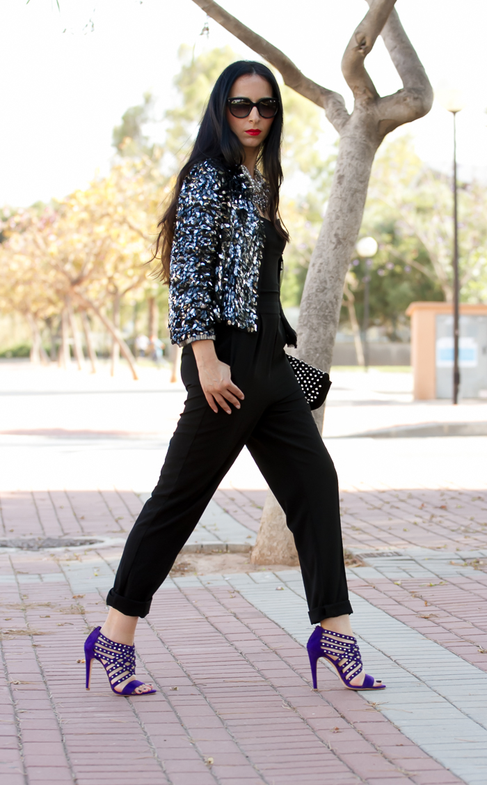 Strapless Jumpsuit and Silver Paillettes         |          ! With Or Without Shoes - Blog Moda Valencia Tendencias