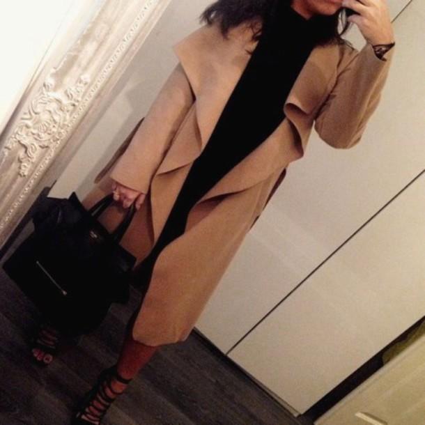 coat long coat long jacket beige coat winter coat