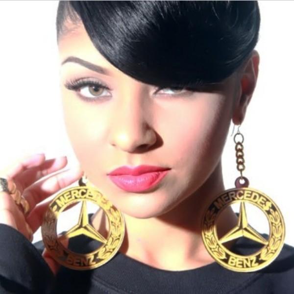 jewels earrings big earrings gold earrings gold mercedes mercedes benz chain jewelry urban streetwear