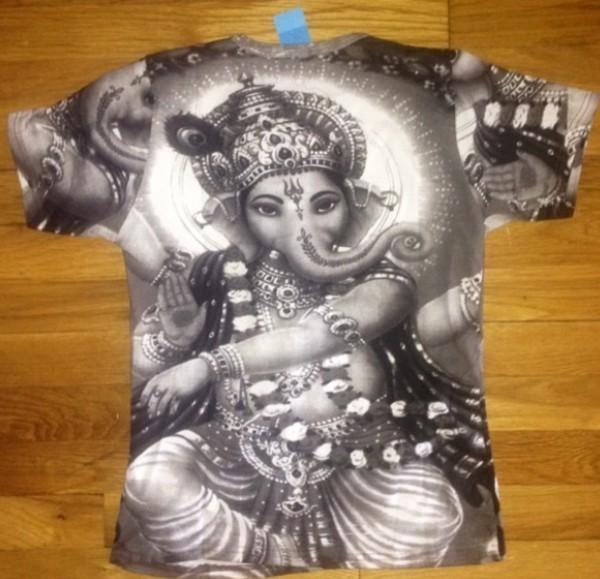 shirt t-shirt indian black and white trendy gesha hindu