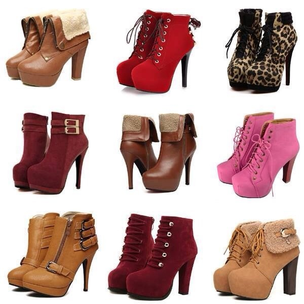 shoes high heels boots red leopard print brown leather boots tan boots pink pink boots furry boots Boots with Heels