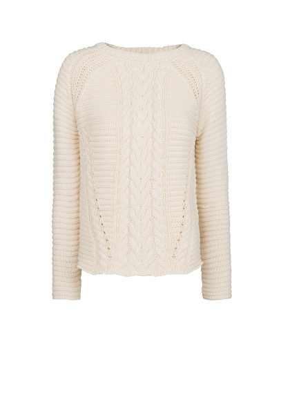 MANGO - CLOTHING - Coats - Cable-knit cotton sweater