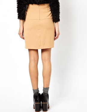 ASOS | ASOS Mini Skirt with Pleat Front at ASOS