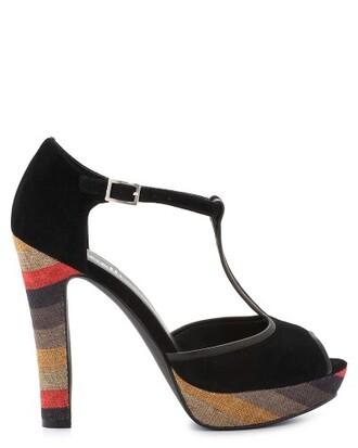 shoes ouverte chaussures talons hauts noir sandales