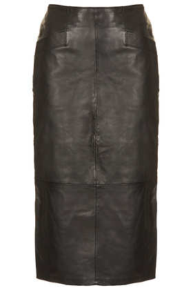 Leather Calf Pencil Skirt - Skirts  - Clothing  - Topshop