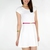 Textured Basic Skater Dress - White | Jasmoda