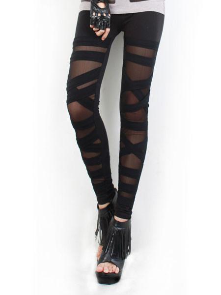 Sheer Criss Cross Leggings | Outfit Made