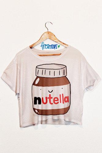 Nutella Crop Top | fresh-tops.com on Wanelo