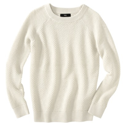 Mossimo® Womens Long Sleeve Crew Lurex Sweat... : Target