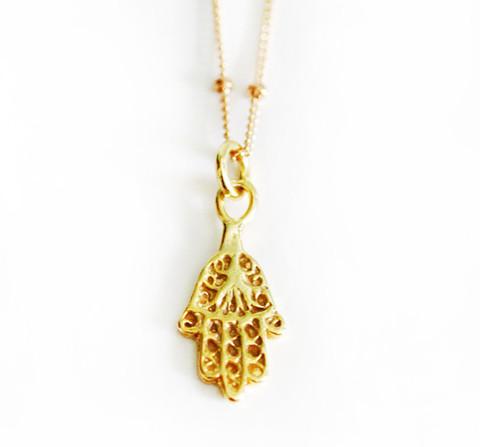 Hamsa Necklace   Kei Jewelry
