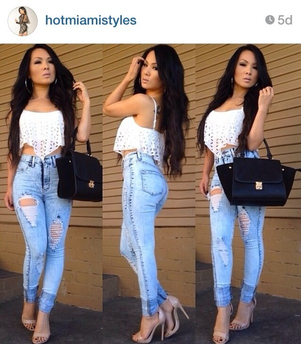 blouse hotmiamistyles jeans