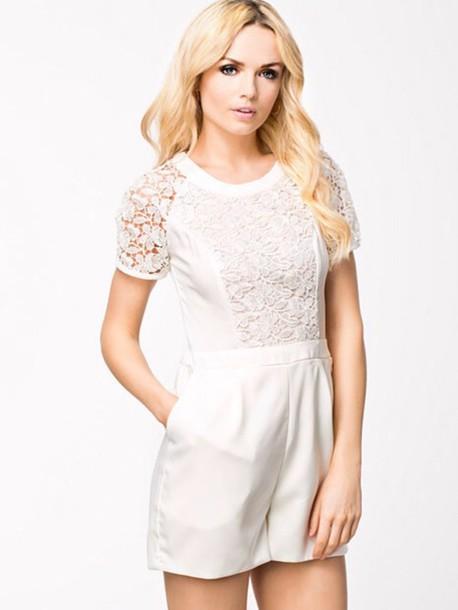 jumpsuit white romper kant white dress white t-shirt romper