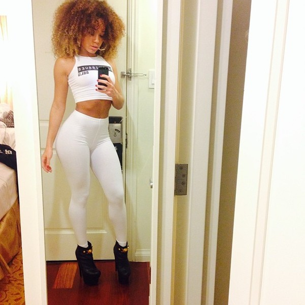 pants leggings top crop tops white