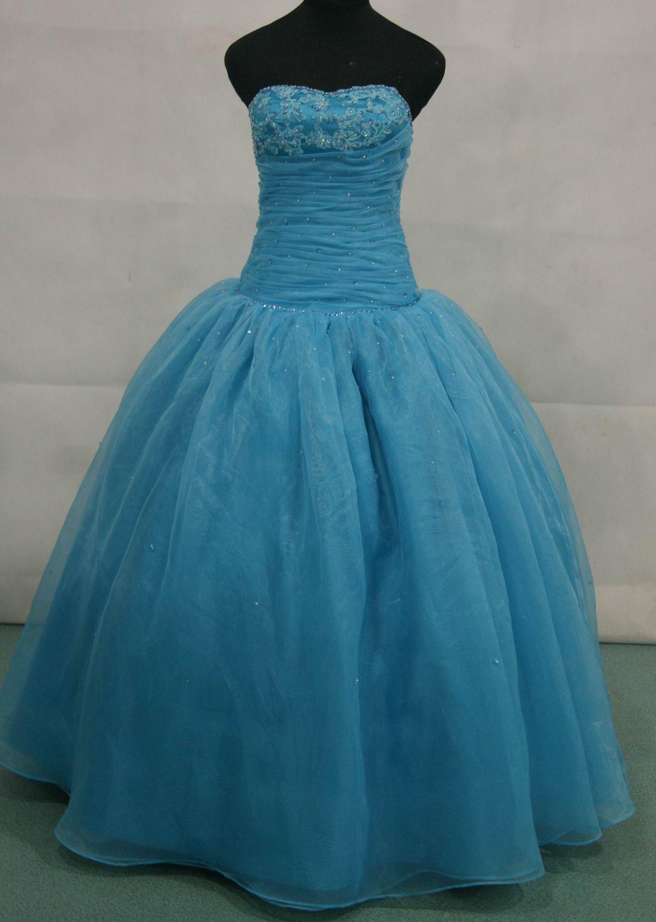 Long Prom Dress with matching bolero.