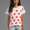 Wildfox couture falling in love favorite tee in clean white - wildfox couture